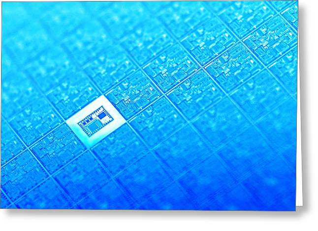 Microchip Wafer Greeting Card by Pasieka
