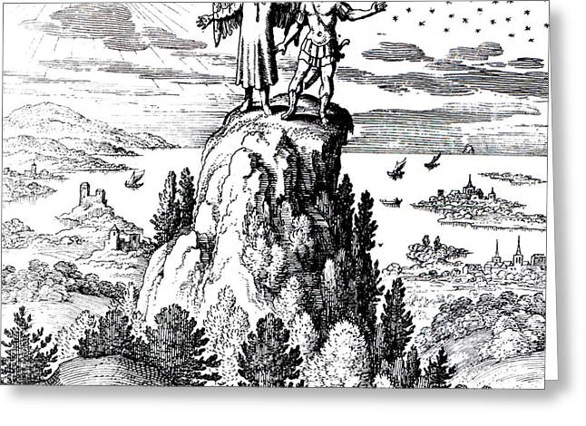 Microcosm, Macrocosm, 17th Century Greeting Card by Science Source