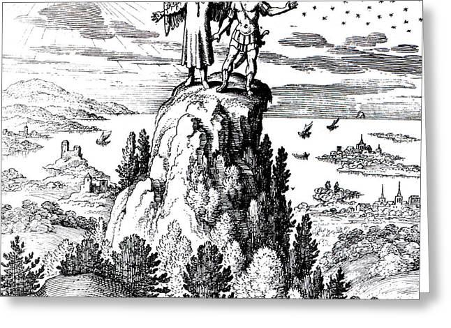 Microcosm, Macrocosm, 17th Century Greeting Card