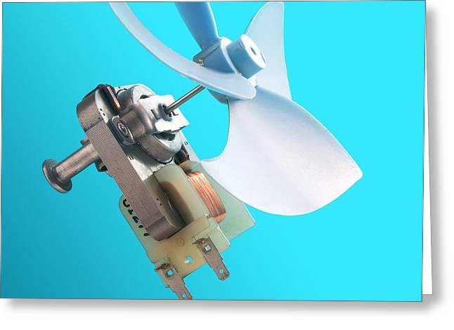 Microwave Oven Fan Greeting Card by Sheila Terry