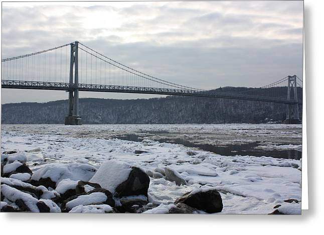 Mid-hudson In Winter Greeting Card by Robert Rizzolo