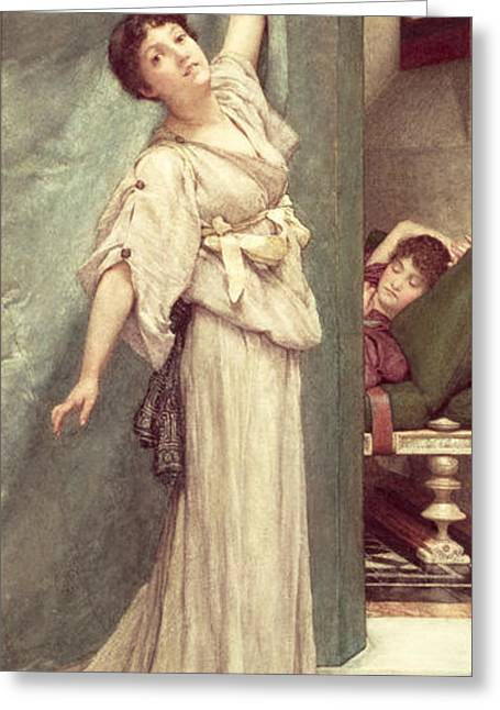 Midday Slumbers  Greeting Card by Sir Lawrence Alma-Tadema