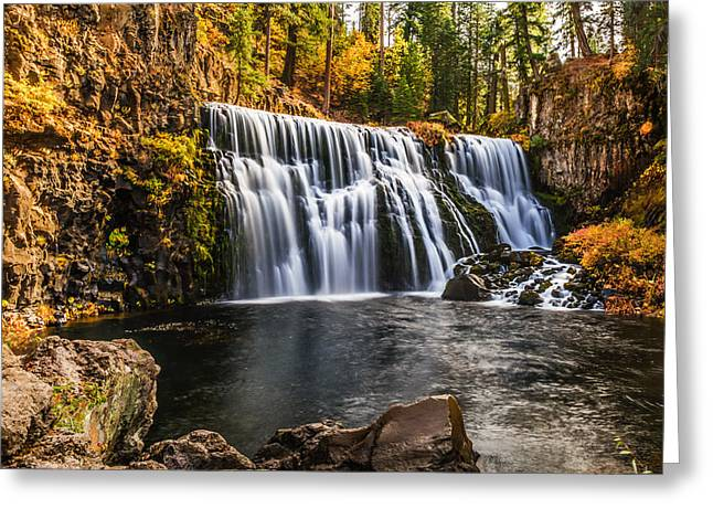Greeting Card featuring the photograph Middle Falls Mccloud River by Randy Wood