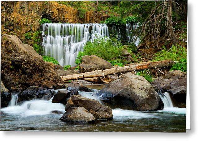 Middle Falls Of The Mccloud River Greeting Card
