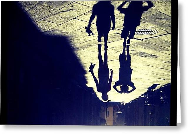 Midget Walk. #rotate #shadow #kids Greeting Card