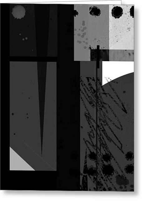 Midnight In The City 3 Triptych Greeting Card by Ann Powell