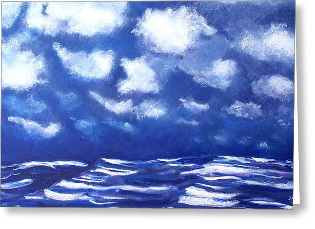 Midnight Sea Greeting Card by Jon Shepodd