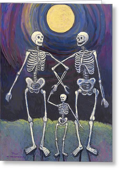 Midnight Stroll Greeting Card by Maureen Heidtmann