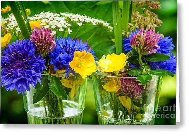Midsummer Flowers Greeting Card by Lutz Baar