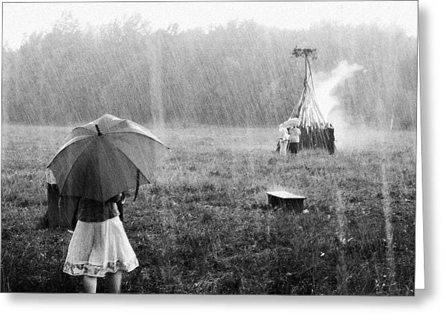Midsummer Rain Greeting Card
