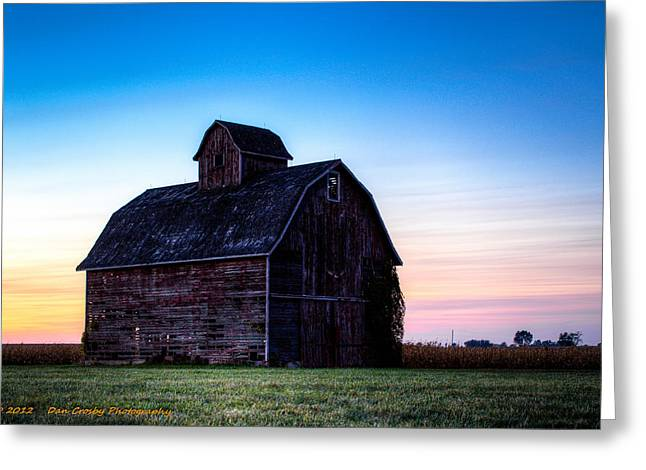 Midwest Sun Down Greeting Card by Dan Crosby