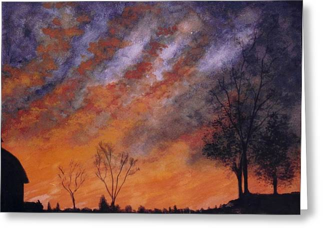 Midwest Sunset Greeting Card by Stacy C Bottoms