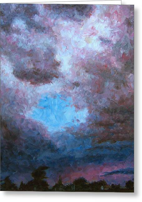 Midwest Tempest Greeting Card by Susan Moore