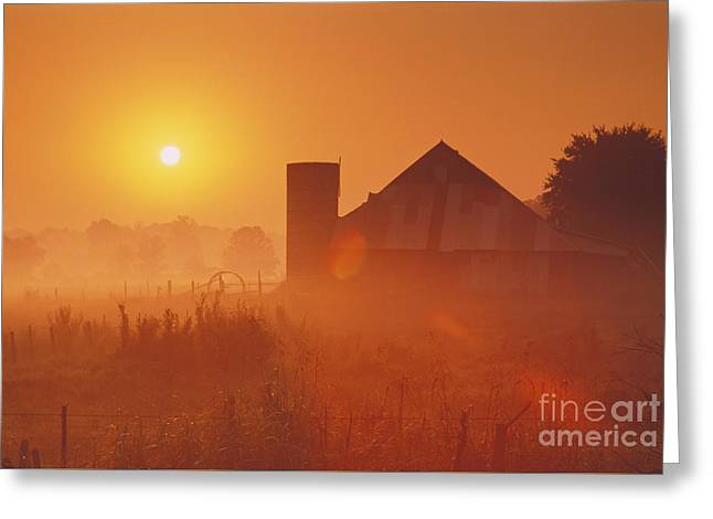 Midwestern Rural Sunrise - Fs000405 Greeting Card by Daniel Dempster