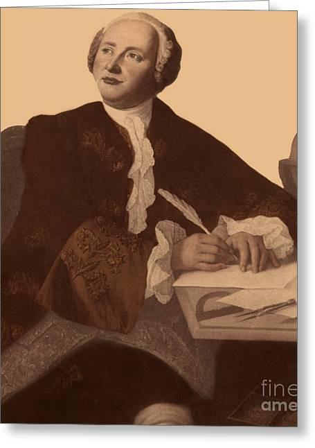 Mikhail Lomonosov Greeting Card by Science Source