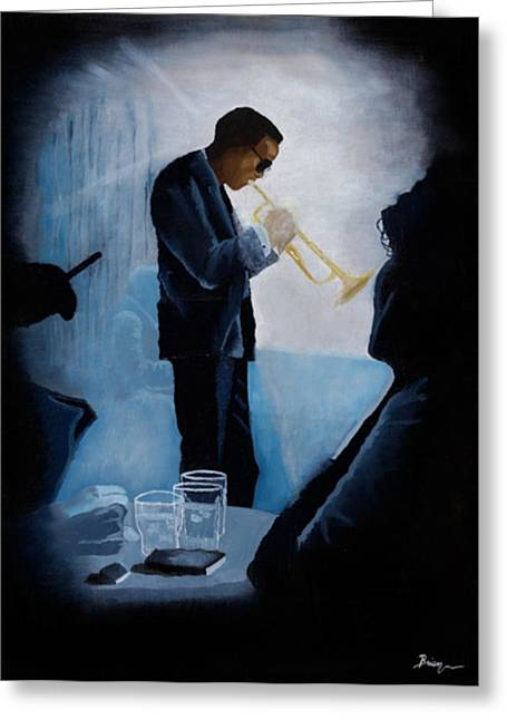 Mile Davis - Kind Of Blue Greeting Card by Brien Cole