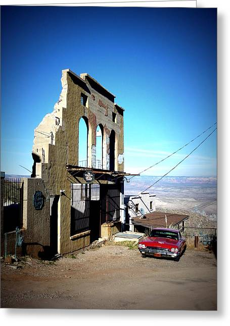 Mile High Jerome Arizona Greeting Card by Cindy Wright