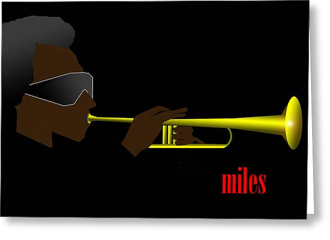 Miles Davis Greeting Card by Victor Bailey
