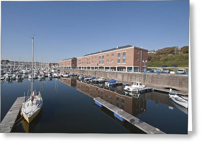 Greeting Card featuring the photograph Milford Haven Marina 2 by Steve Purnell