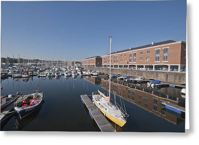 Greeting Card featuring the photograph Milford Haven Marina 3 by Steve Purnell