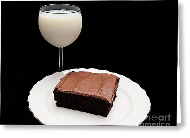 Milk And Chocolate Cake Greeting Card
