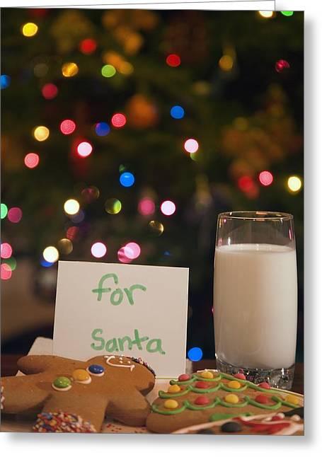 Milk And Cookies For Santa Greeting Card