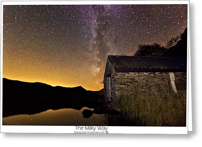 Milky Way Above The Old Boathouse Greeting Card