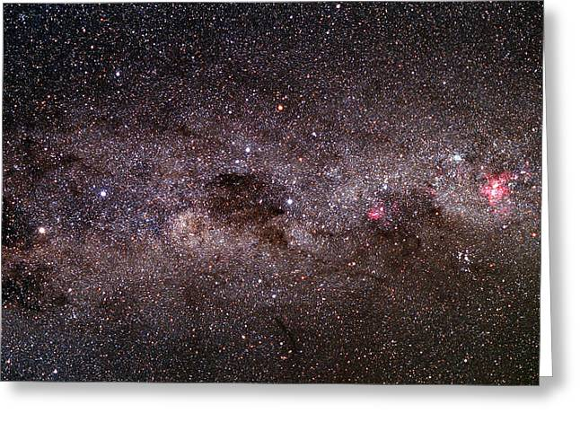 Milky Way Greeting Card by Dr Fred Espenak