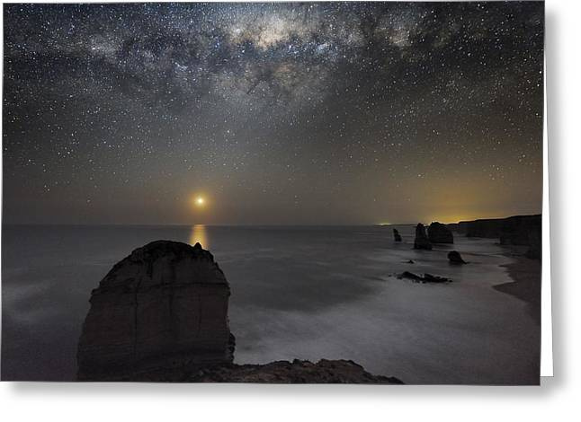 Milky Way Over Shipwreck Coast Greeting Card by Alex Cherney, Terrastro.com
