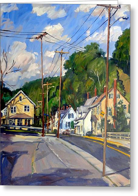 Mill Houses North Adams Greeting Card