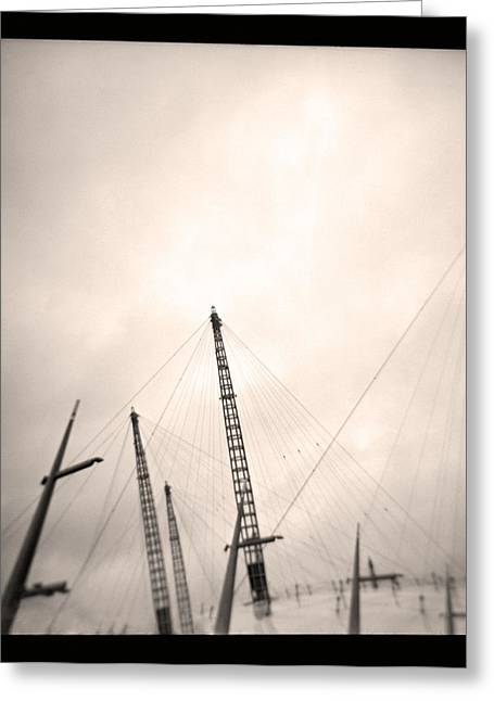 Greeting Card featuring the photograph Millenium Dome Spires by Lenny Carter