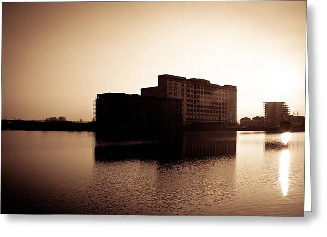 Greeting Card featuring the photograph Millenium Mills Warehouse by Lenny Carter