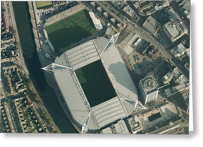 Millennium Stadium, Cardiff,aerial View Greeting Card by Getmapping Plc