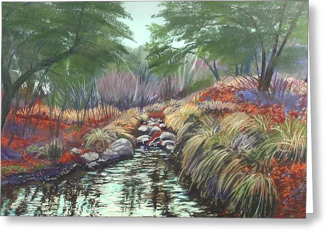 Miller Canyon Creek Greeting Card by Drusilla Montemayor