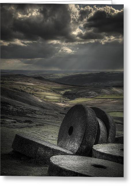 Millstones Greeting Card by Andy Astbury