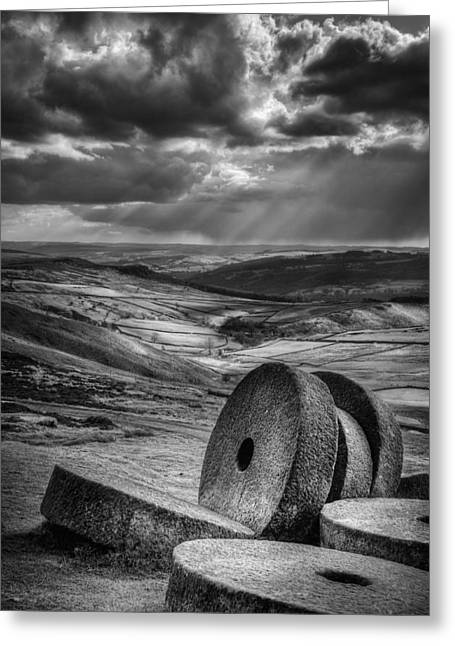 Millstones On The Moor Greeting Card by Andy Astbury