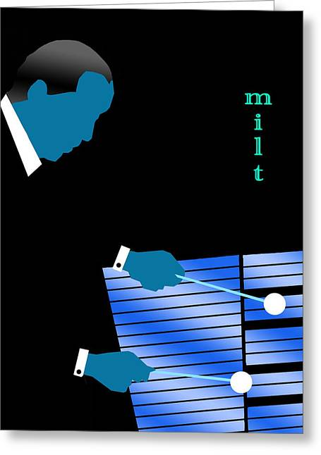 Milt Jackson Blue Greeting Card by Victor Bailey