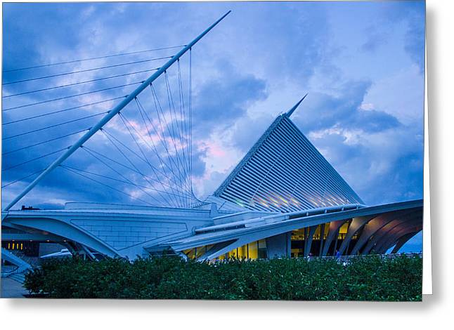 Milwaukee Art Museum At Twilight Greeting Card by Vincent Buckley