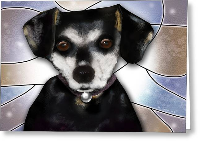 Min Pin Greeting Card by Melisa Meyers