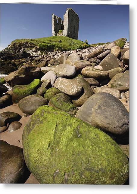 Minard Castle And Rocky Beach Minard Greeting Card by Trish Punch