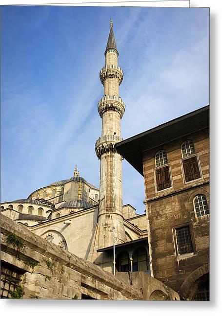 Minaret Of The Blue Mosque Greeting Card by Artur Bogacki