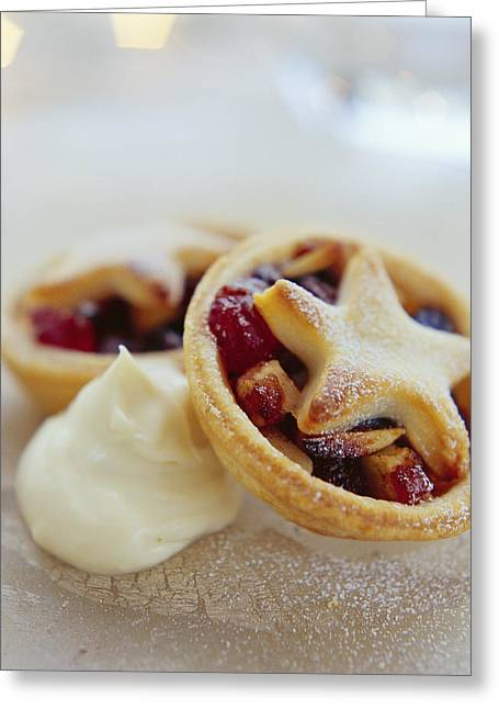 Mince Pies Greeting Card by David Munns