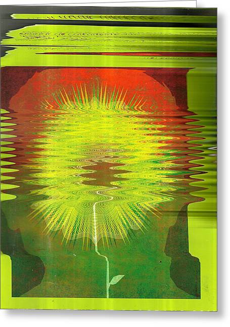 Mindful Abstraction Greeting Card by Anne-Elizabeth Whiteway