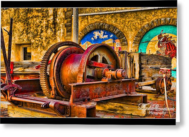 Mine Machinery Greeting Card by Linda Constant
