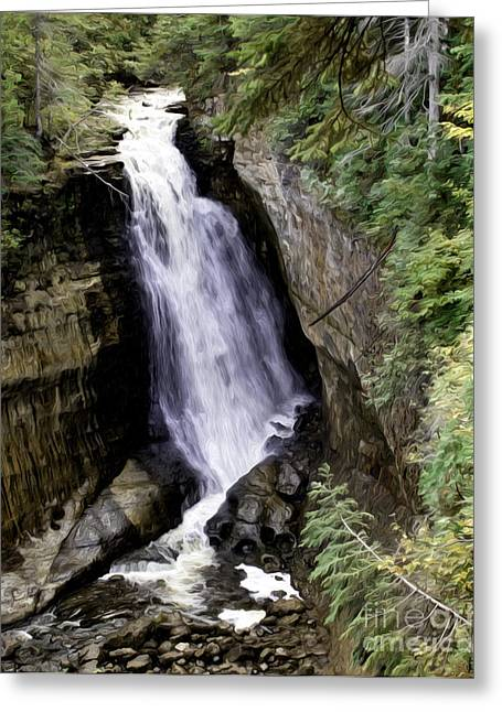 Miner Falls Greeting Card