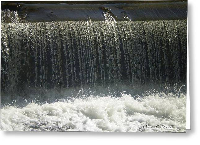 Mineral Park Water Fall - Petoskey Greeting Card
