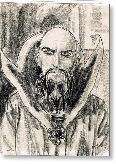 Ming The Merciless Greeting Card by Mel Thompson