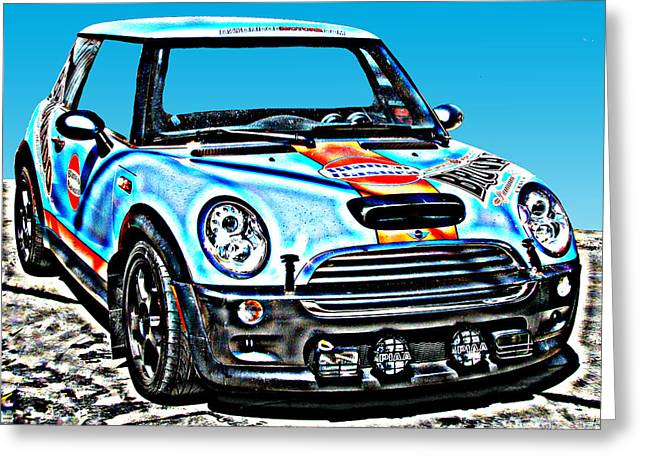 Mini Cooper Competition Greeting Card by Samuel Sheats