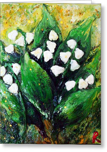 Mini Lilies Of The Valley Greeting Card