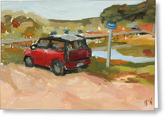 Mini On The Cape Greeting Card by William Noonan